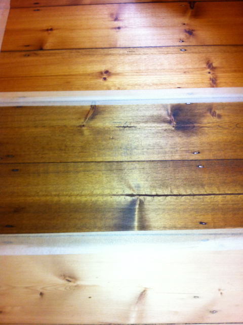 stain on pine